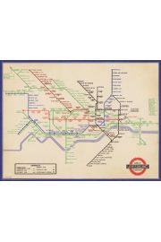 London Underground Vintage 1936 Map - plakat premium