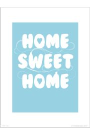 Home Sweet Home Blue - plakat premium