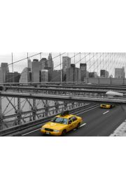 Nowy Jork NYC - ��te Taxi Brooklyn Bridge - plakat