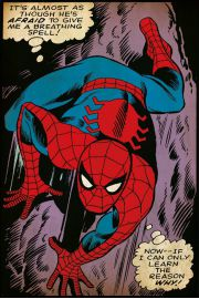 SpiderMan Breathing Spell - plakat