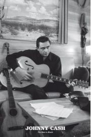 Johnny Cash Man in Black - plakat