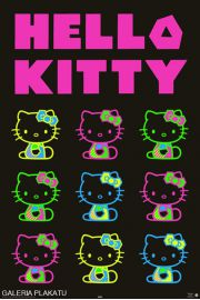 Hello Kitty Neon Party - plakat