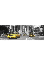 Nowy Jork Times Square yellow Taxi - plakat