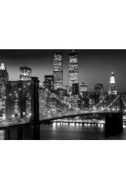 Nowy Jork Brooklyn Bridge Night - plakat