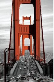 San Francisco Most Golden Gate - plakat