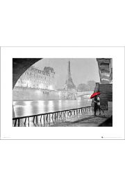 Paris Red Umbrella - art print