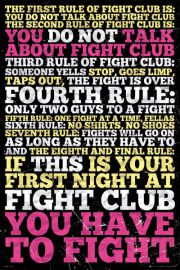 Fight Club Zasady - plakat