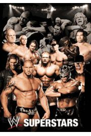 WWE Wrestling collage - plakat 3D