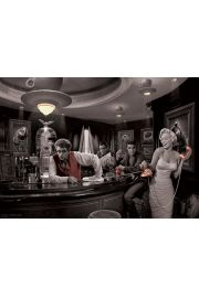 Marylin Monroe, James Dean, Elvis Presley w Barze by Chris Consani - plakat