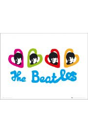 The Beatles Love Hearts - art print