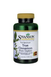 Swanson Full Spectrum True Cinamon (Cynamon cejloński) 600mg 90 kaps.