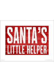 Santas Little Helper - plakat premium