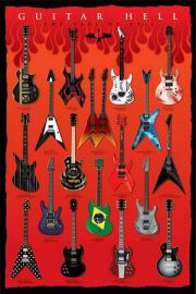 Piekielne Gitary - The Axes Of Evil - plakat