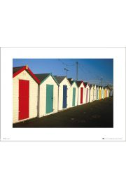Tom Mackie Beach Huts - art print