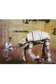 Banksy I Am Your Father Star Wars - plakat