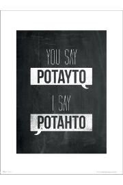 Typographic Potayto Potahto - art print