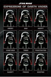 Gwiezdne Wojny Star Wars Expressions of Darth Vader - plakat