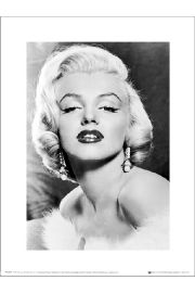 Marilyn Monroe Earrings - art print