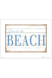 Gone to Beach - plakat premium