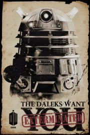 Doctor Who Daleks Want You Exterminated - plakat