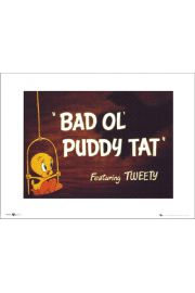 Tweety Bad Ol Puddy Tat - art print