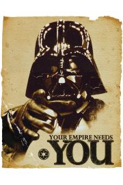Empire Needs You - Vader Star Wars Gwiezdne Wojny - plakat