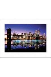Brooklyn Bridge Colour - plakat premium