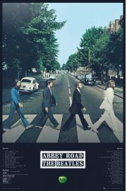 The Beatles Abbey Road Tracks - plakat
