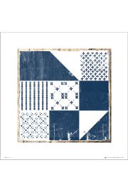 Tile Blue and White Mixed Tile 1 - art print