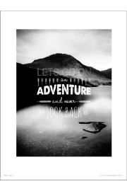 Adventure Lets Go - art print