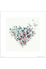 Butterflies Heart - art print