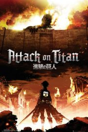 Atak Tytanów. Attack On Titan Key Art - plakat