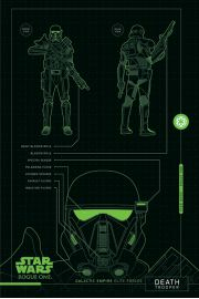 Łotr 1. Gwiezdne wojny Death Trooper Plans - plakat