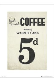 Coffee Walnut Cake - art print