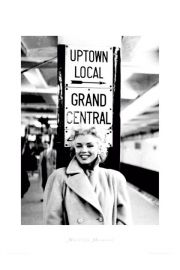 Marilyn Monroe grand central station - plakat premium