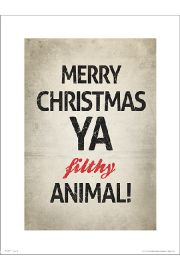 Merry Christmas Animal - plakat premium