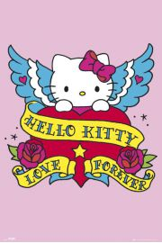 Hello Kitty Tatuaż - plakat