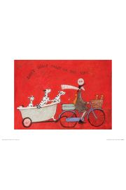 Sam Toft Dont Dilly Dally on the Way - plakat premium