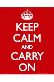 Keep Calm AND Carry On - plakat