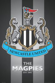 Newcastle United - The Magpies - Godło Klubu - plakat