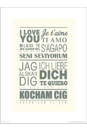 I Love You Languages - plakat premium