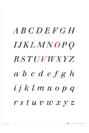 Alphabet Love - art print