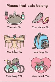 Pusheen Places Cats Belong - plakat