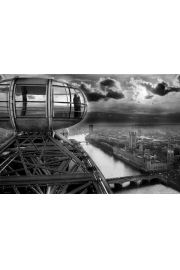 Londyn - London Eye - Panorama - plakat