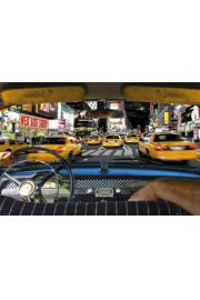 Nowy Jork Times Square Taxi Ride - plakat