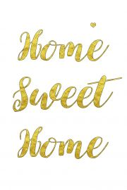 Home sweet home – plakat