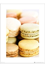 Makaroniki Macaroon Close Up - plakat premium