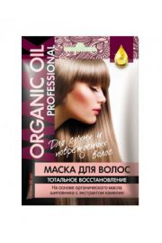 Org. maska do wł. «ORGANIC OIL Professional» regeneracja 100% FIT Fitocosmetic