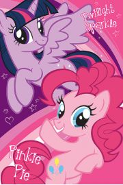 My Little Pony Twilight Sparkle  Pinkie Pie - plakat
