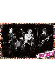 Sex Pistols On Stage - plakat